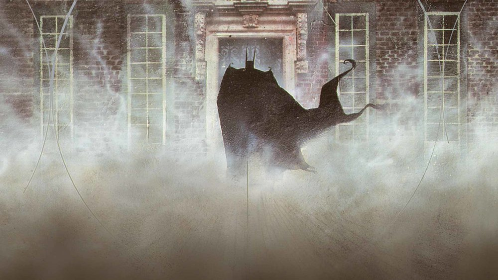 Grant Morrison and Dave McKean's Arkham Asylum: A Serious House on a Serious Earth definitely inspired the creepiness and foreboding you get from both the facility and Batman's enemies. (Art by Dave McKean)