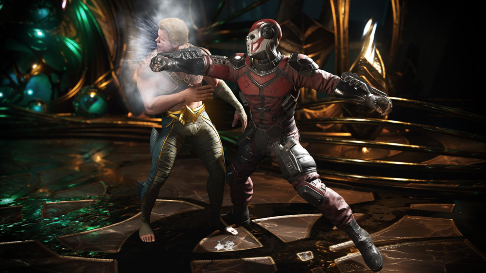 Deadshot takes on Aquaman in one of the many possible, unusual DC Comics-based battles you can create in  Injustice 2 .