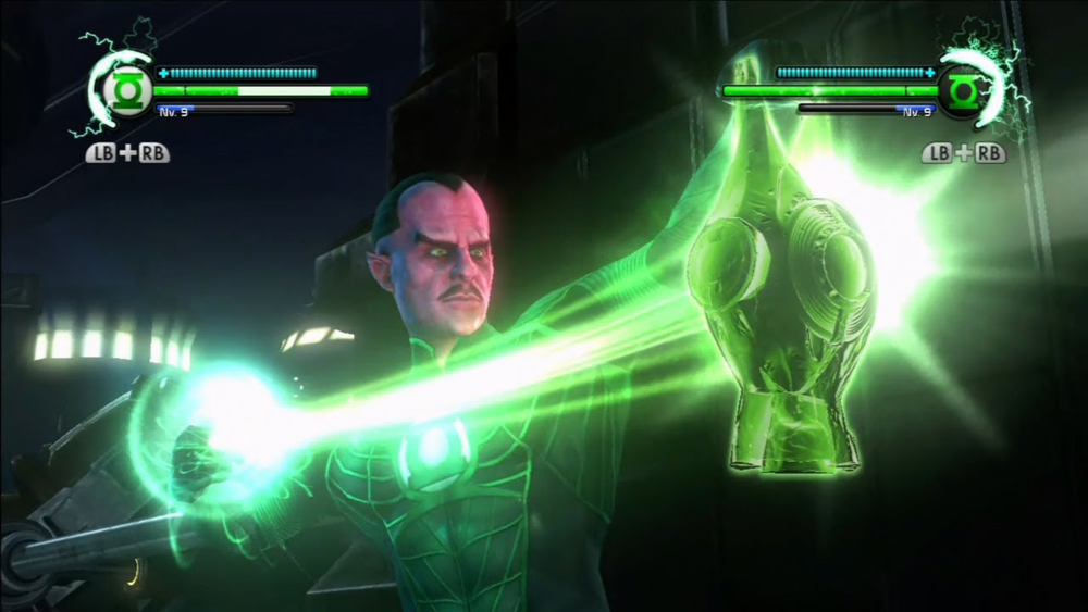 If you're interested in a ringslinging partner in co-op mode, your player 2 takes on the role of Hal Jordan's mentor and greatest destined enemy: Sinestro.