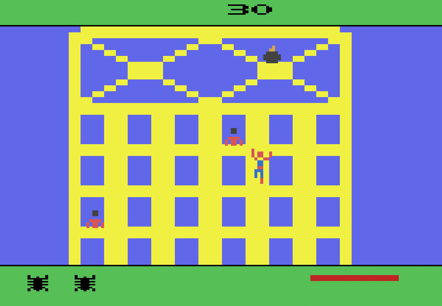 Spider-Man  on the Atari 2600 is obviously very primitive by today's standards, but constituted the first time someone could pick up a controller, shoot a web, and climb a wall.