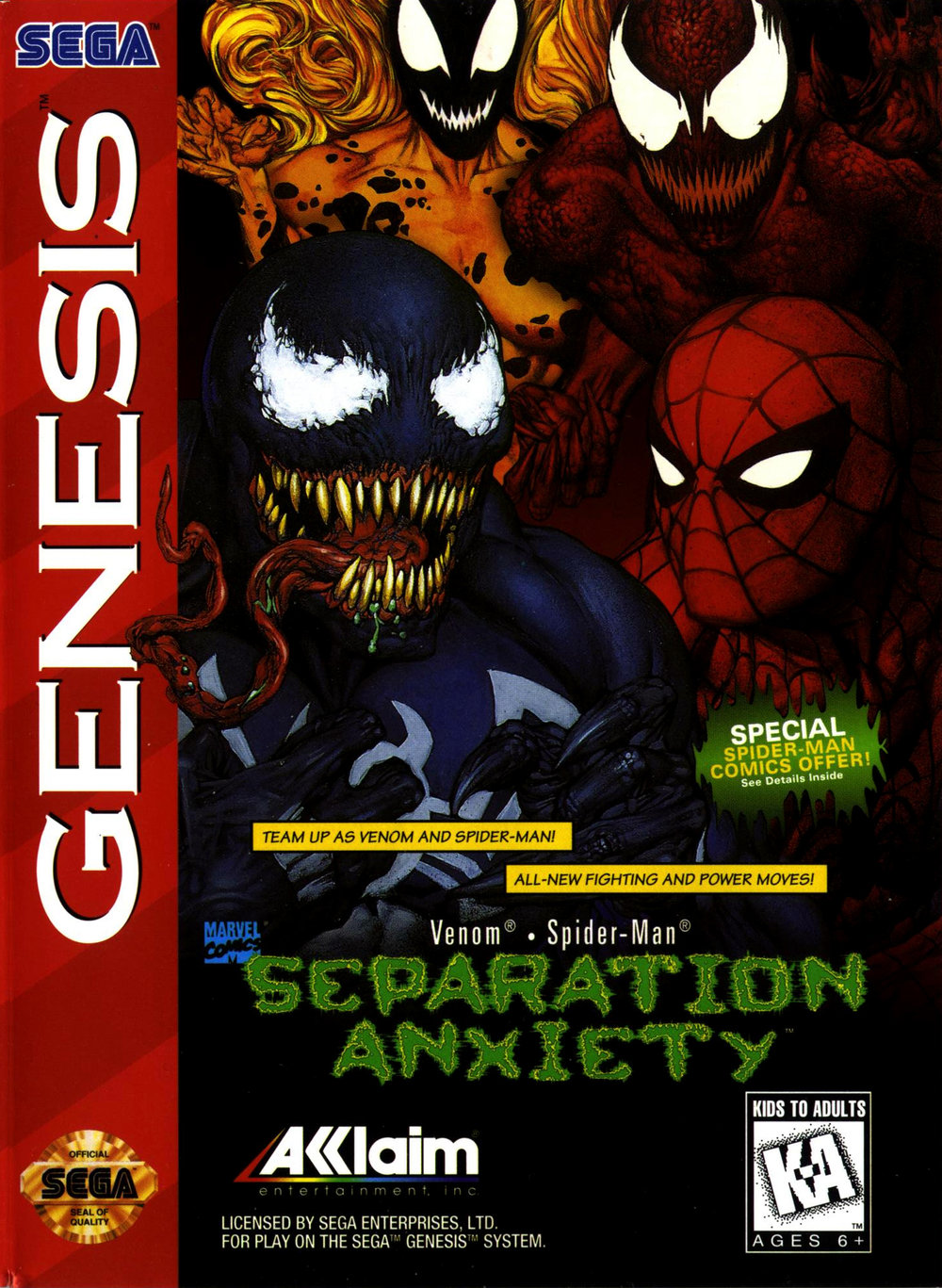 Attempting to seize on the success of  Maximum Carnage , its sequel  Separation Anxiety  just didn't have the same kind of magic.