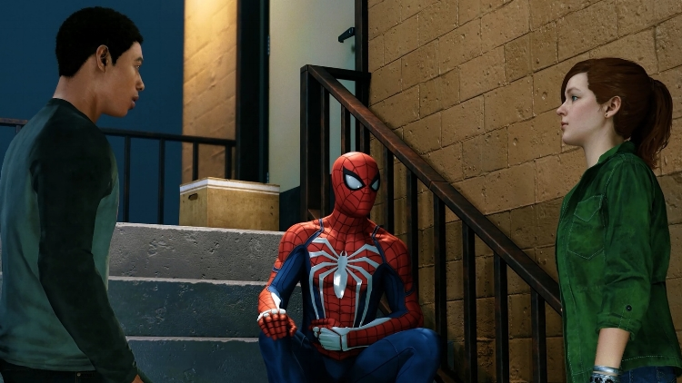 In some welcome sections that help to break the experience up with a little more variety, some specific points in the story will require you to play as two major supporting players in the modern world of Spider-Man: a young high schooler destined for greatness named Miles Morales, and perennial old flame Mary Jane Watson — reimagined here as an investigative reporter.