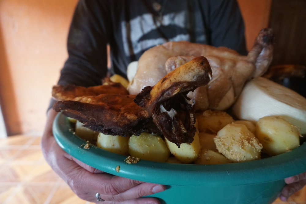 Cuy  (guinea pig) at the post- minga  feast
