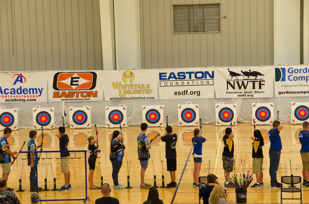 Youth archers from around the United States participated in the 2016 NASP Worlds Tournament in Myrtle Beach.