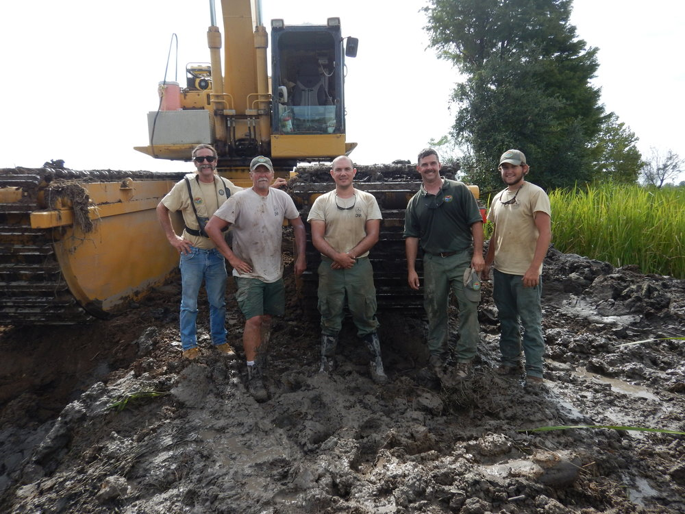 The dike crew at the SCDNR's Samworth Wildlife Management Area uses specialized equipment to manage this property in some fairly demanding conditions.