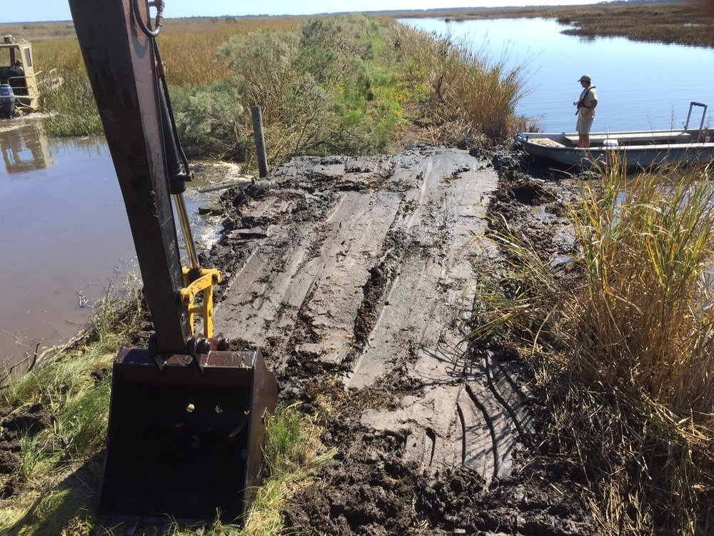 Cedar Island Breach after emergency repair work. (SCDNR photo by Joachim Treptow)