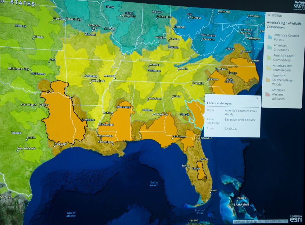 This awesome interactive display details NWTF-supported conservation and research projects across North America. (SCDNR photo by D. Lucas)