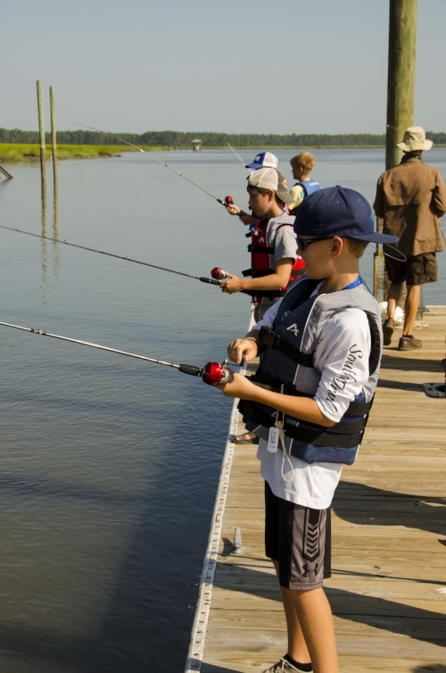 Young people enrolled at the Port Royal Maritime Center's summer day camp learn how to fish and crab, as well as boating skills, saltmarsh ecology and other lifelong skills and lessons.