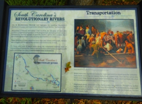 """Lynches River is also a part of a """"Revolutionary River Trail"""" that includes the area at the confluence of the Great Pee Dee where General Francis Marion's volunteer forces would hide from the British during the Revolutionary War."""
