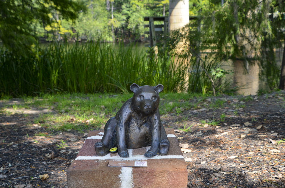 Conway critters — sculptures of local wildlife have been placed at spots along the Conway Riverwalk.