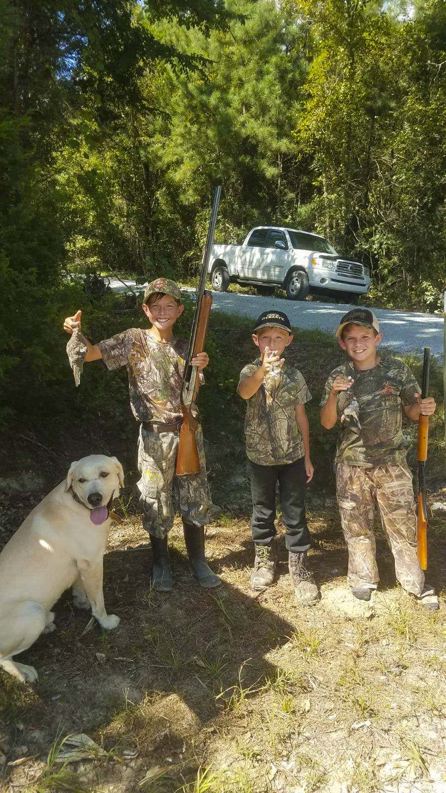 Young hunters on Bland tract.