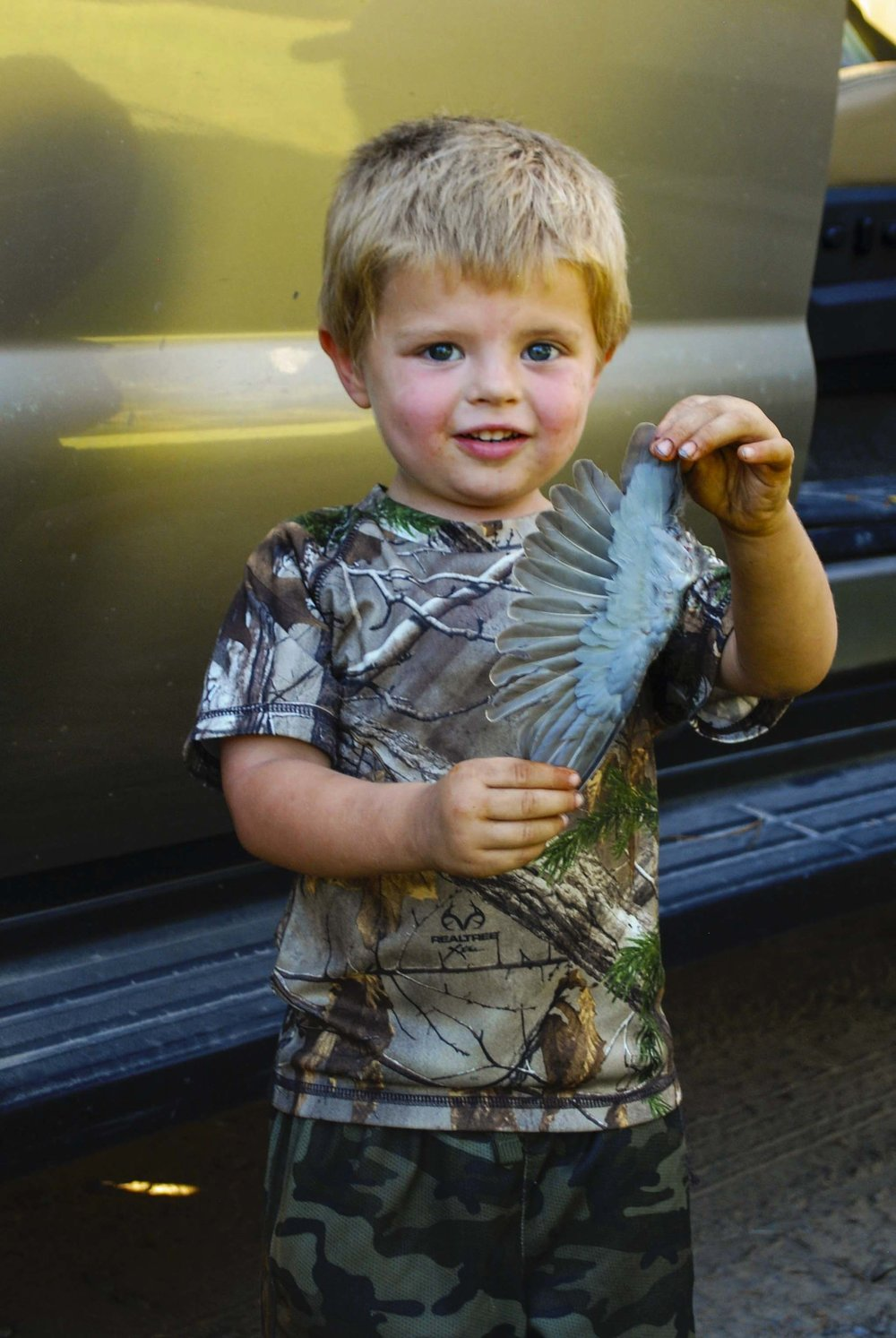 A young hunter at Webb Center dove hunt.