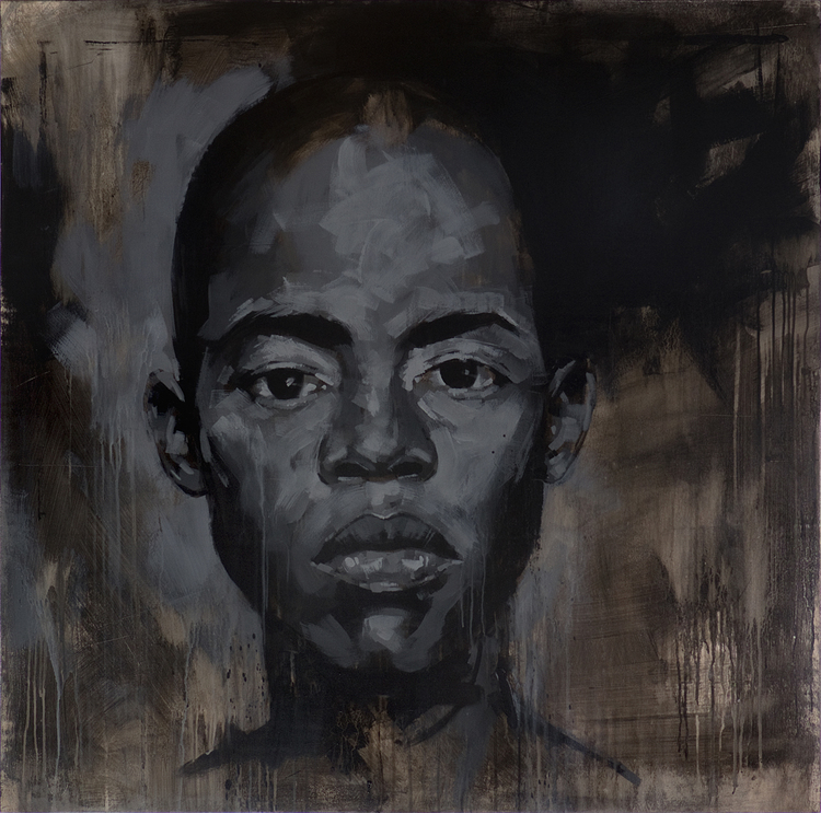 "Anthony Vandertuin, Hope,acrylic on wood panel, 48 x 48"", 2016."