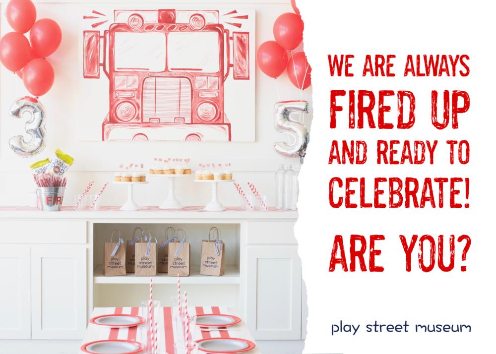 birthday party kids fire truck fun play