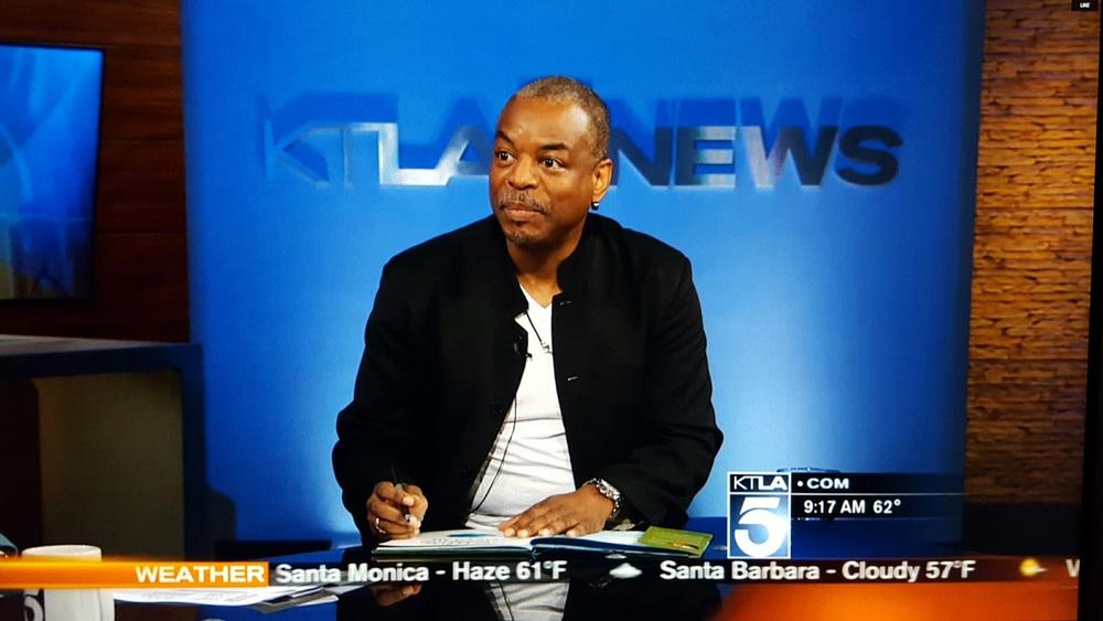 LeVar Burton's appearance on KTLA 5 Morning Show. March 2016