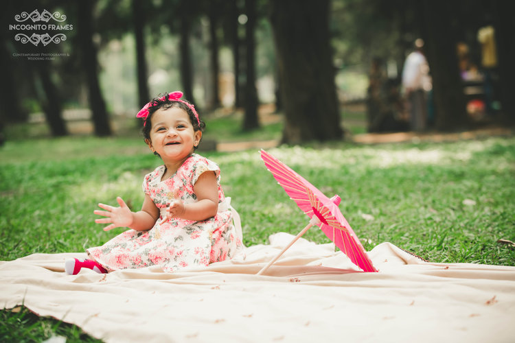 Areeza, our darling, during our first kids outdoor shoot in Bangalore, we are permanently booked for January 7th of every year to shoot her birthday.