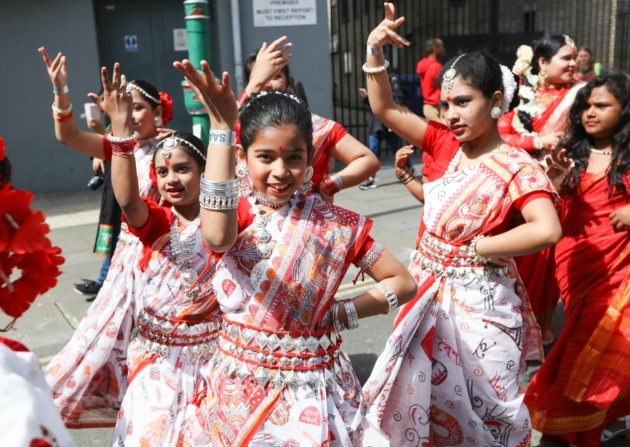 Children performing at the Pohela Boishakh Mela 2017 in London - Photo courtesy The Docklands and East London Advertiser