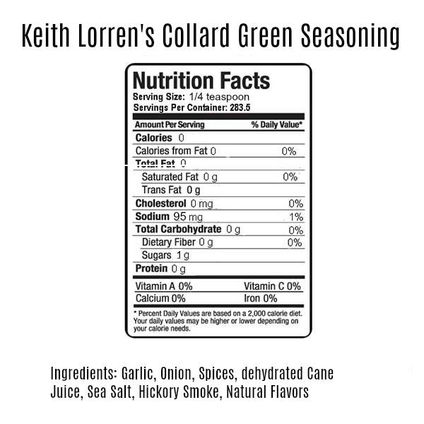 Keith Lorren collard green seasoning