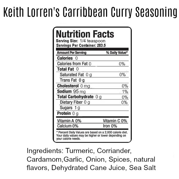 Keith Lorren Caribbean curry seasoning