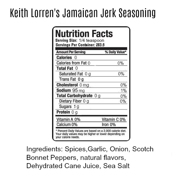 Keith Lorren Jamaican Jerk Seasoning