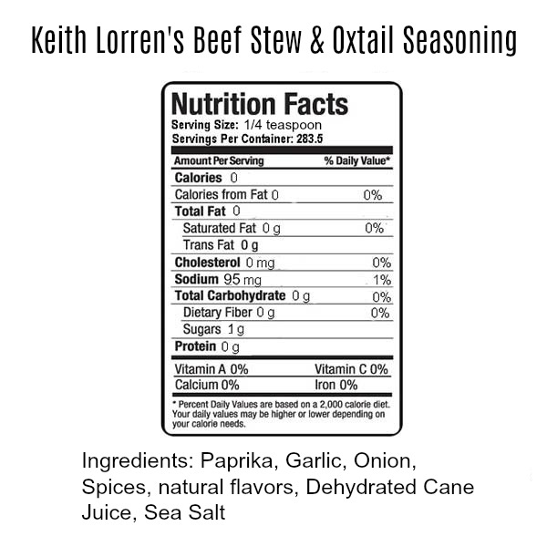 Keith Lorren Beef Stew & Oxtail Seasoning