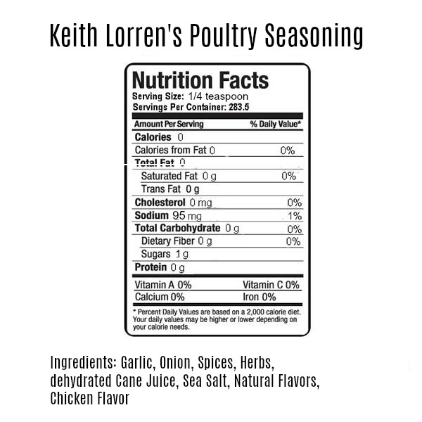 Keith Lorren Gourmet Poultry Seasoning