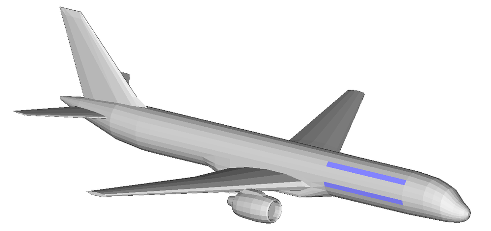 Figure 1: Boeing 757 geometry.