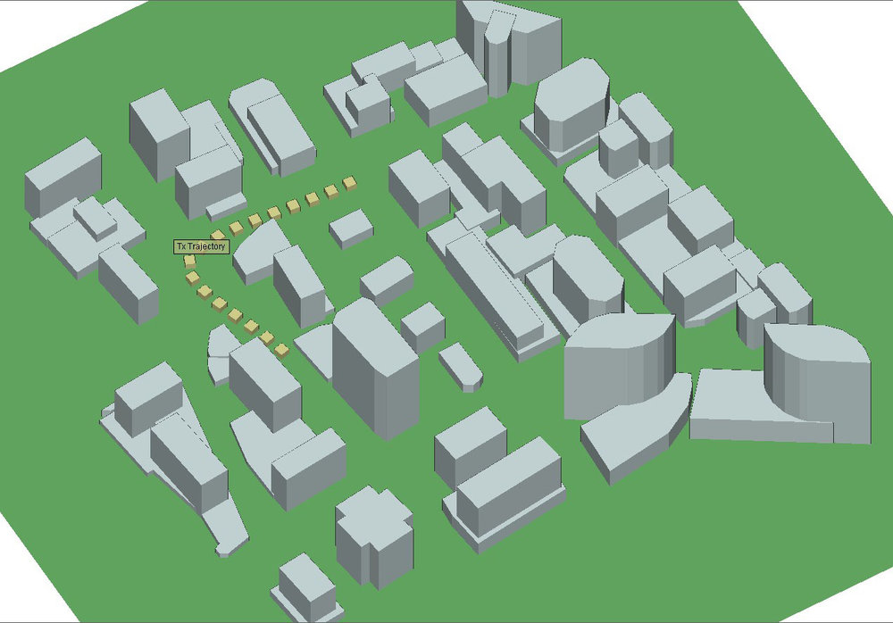 Figure 3  Trajectory within the city of Rosslyn.