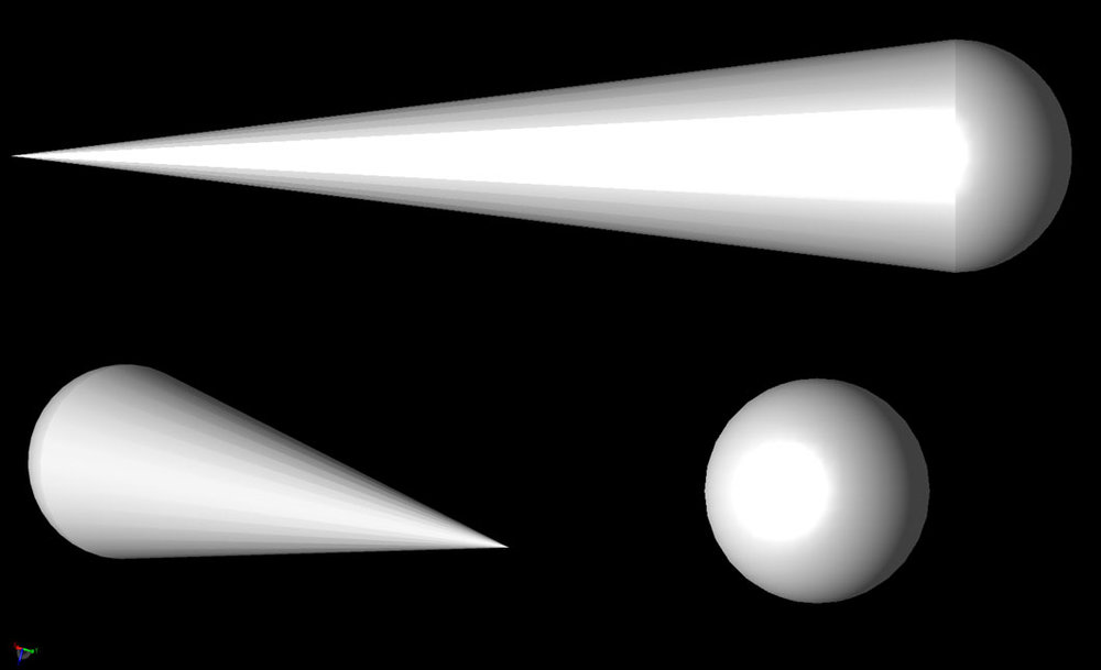 Figure 3 The Cone-Sphere geometry.