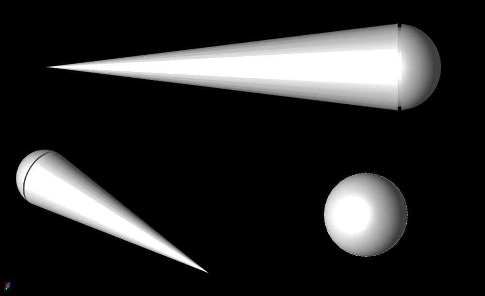 Figure 4 The Cone-Sphere with Gap geometry.