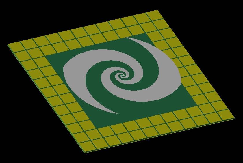 Spiral Antenna Over EBG Reflector — Remcom - Electromagnetic
