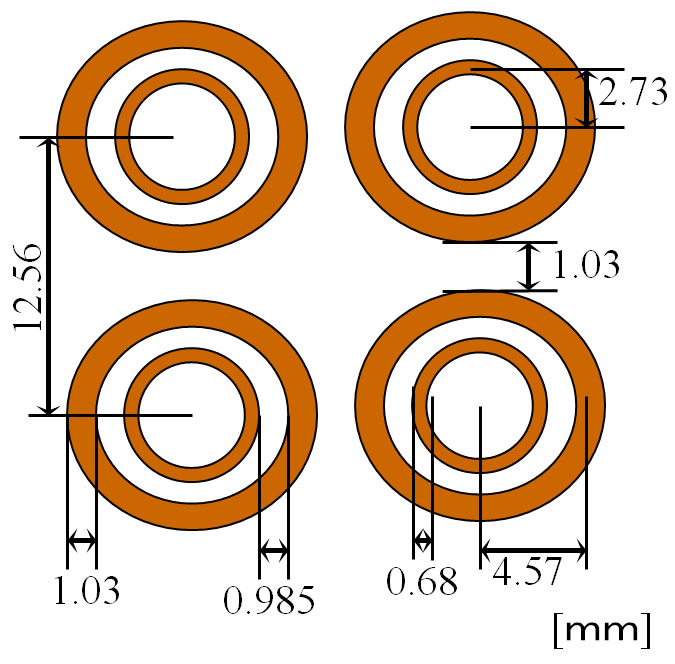 Figure 2: Dimensions of the rings.