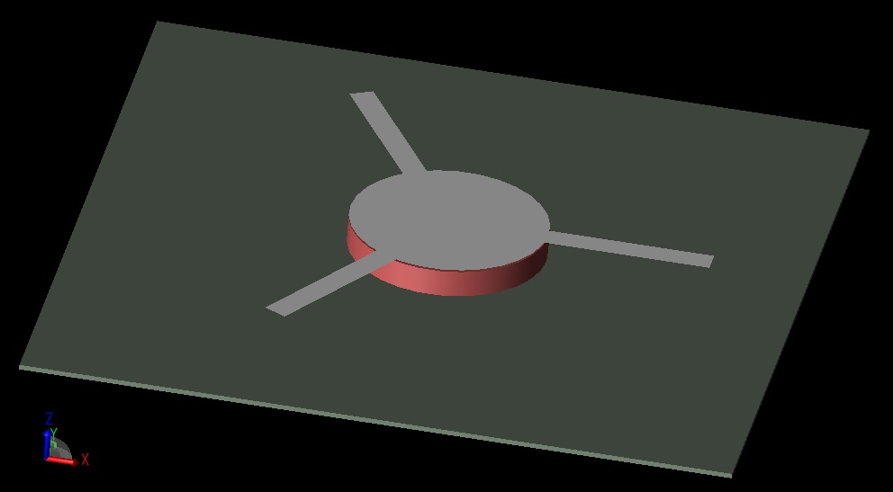 Figure 1: Ferrite circulator structure.