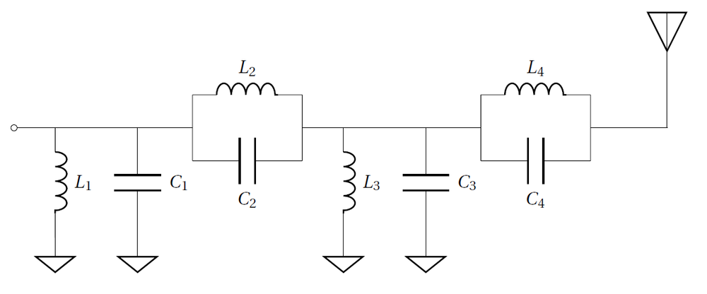 Figure 3: Schematic of matching network.