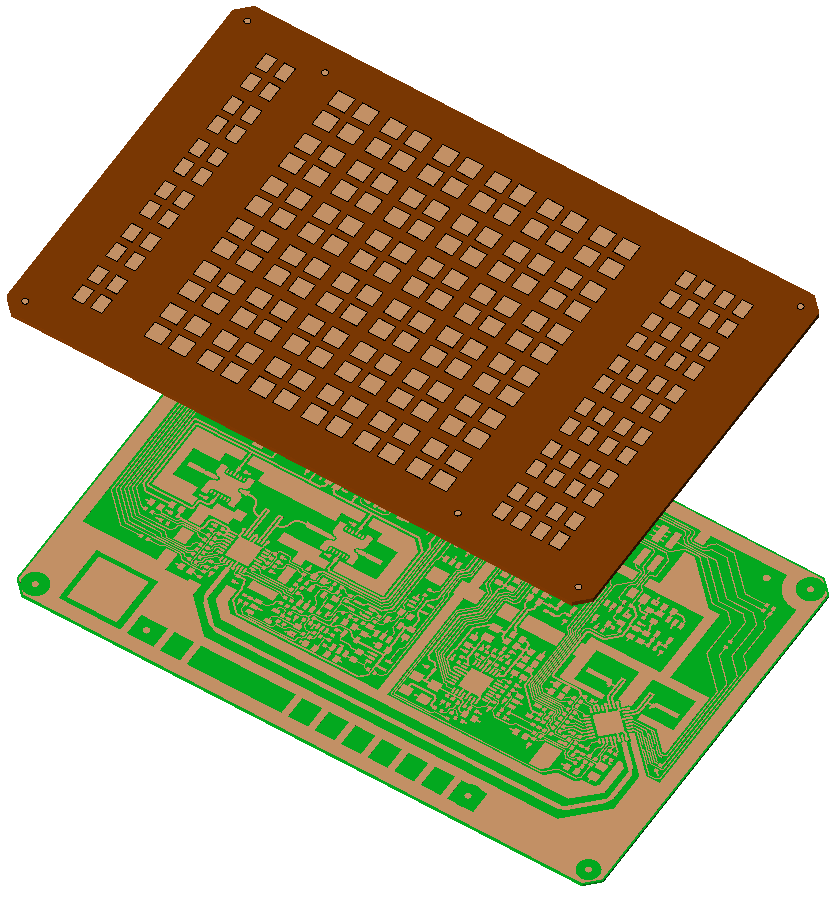 Figure 1: Top and bottom layers of RF board