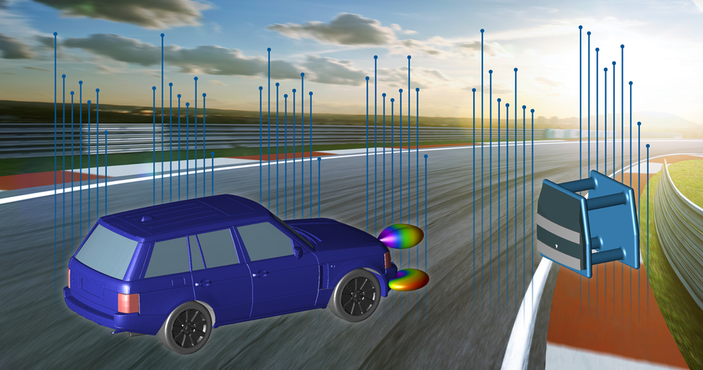 WaveFarer simulates raw radar returns for drive test scenarios.