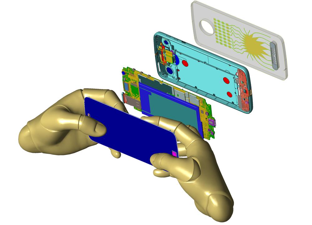 Mobile phone model provided courtesy of Motorola Mobility, LLC/Lenovo.
