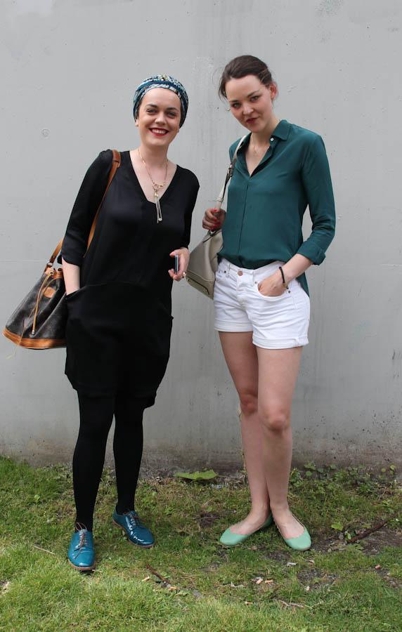 Nachmittags mit Kiki im Backstagebereich von Michalsky