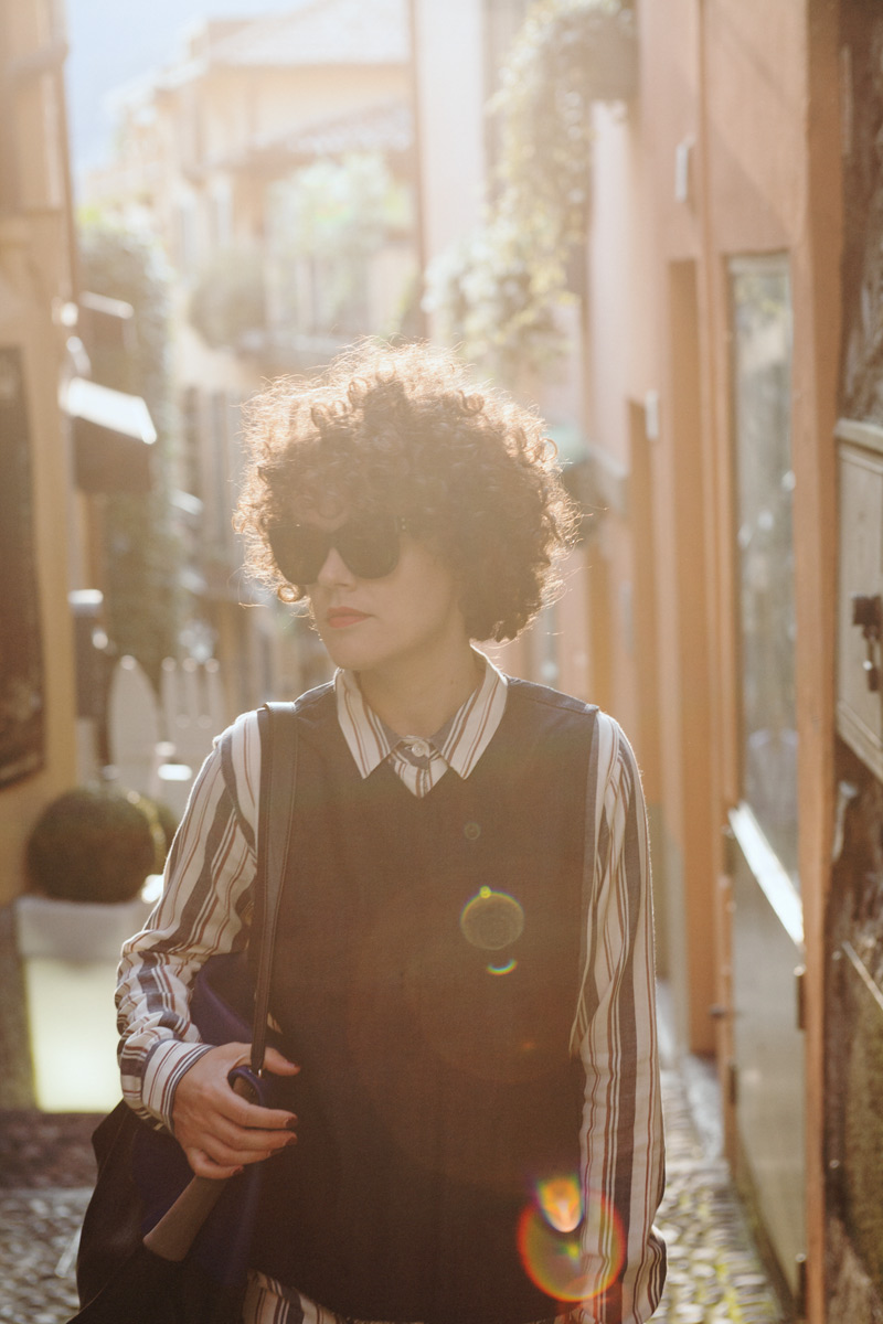 metropolitancircus_lagodicomo_bellagio-Ganni Dress - Weekday Vest - Mykita Shades
