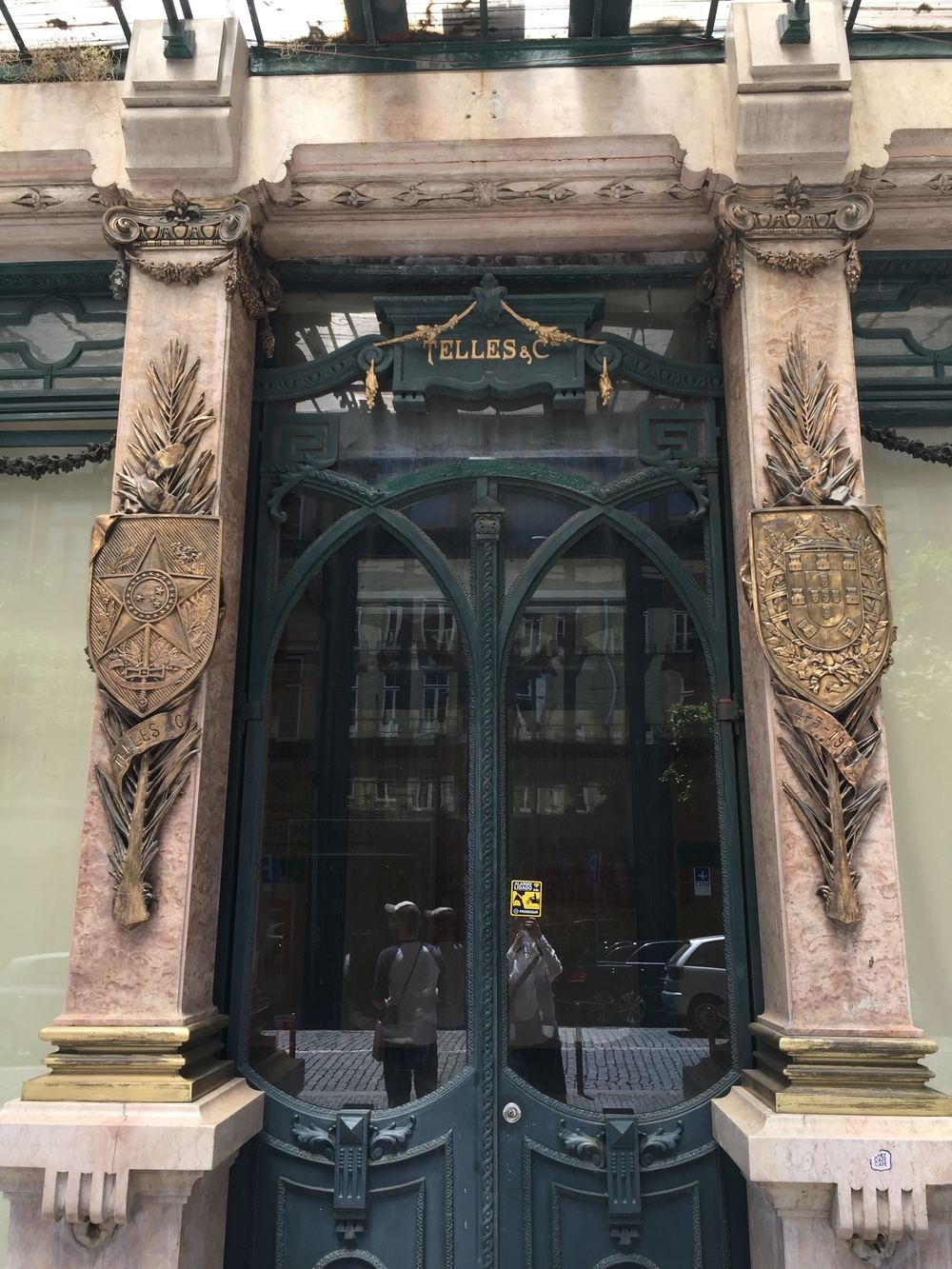 Jungendstil-Tür in Porto