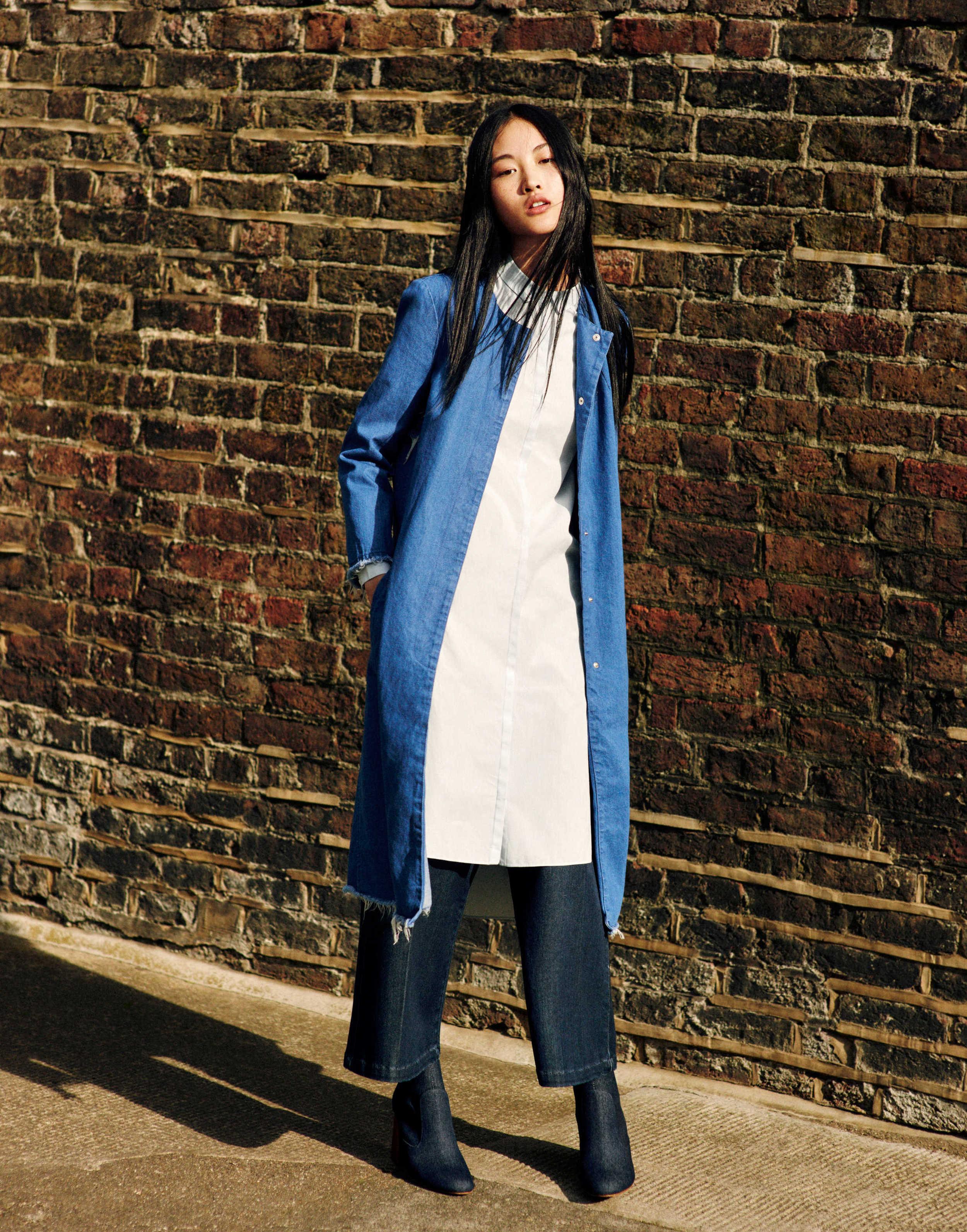 Langer Mantel von Zara TRF