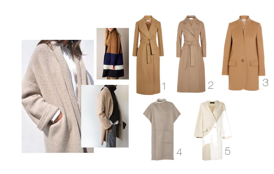 Der beige Mantel