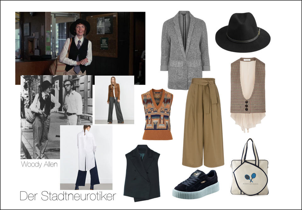 Styling-Annie Hall in der Stadtneurotiker