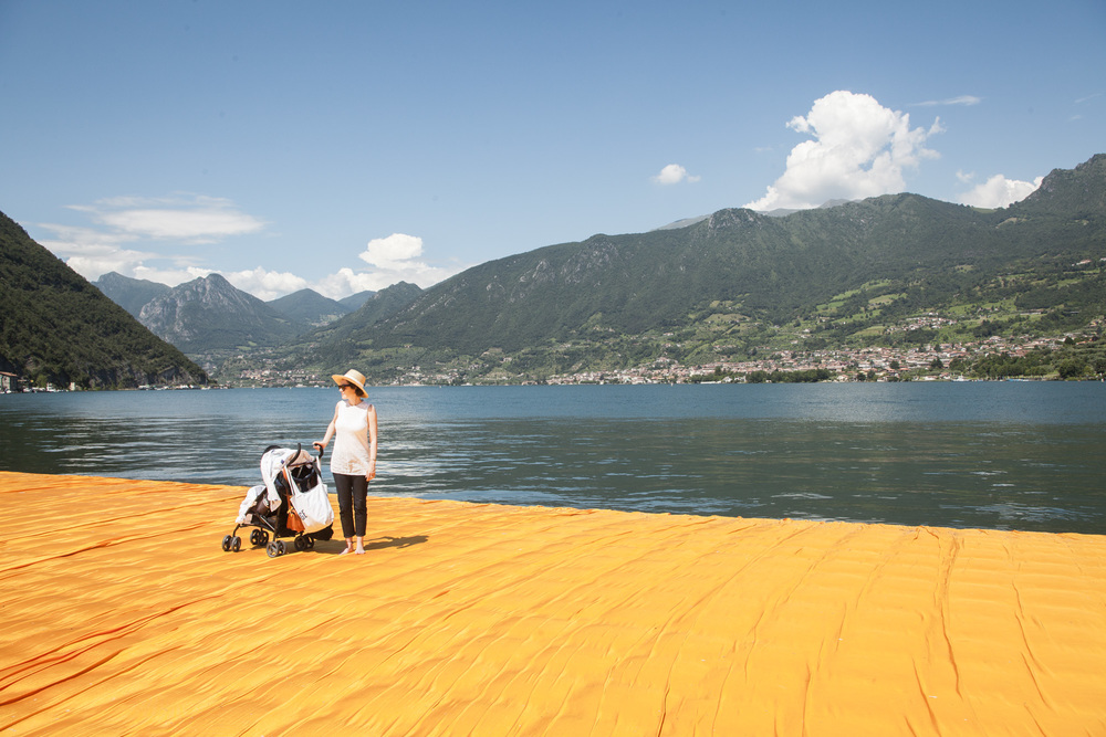 Floating Piers at Lago d´Iseo, fotografiert am 20.06.2016. Foto: Steffen Roth