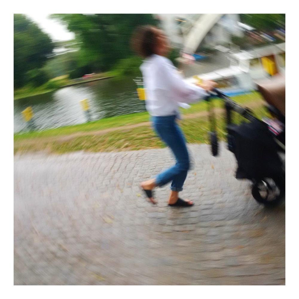 Mama rennt um ihr Leben ;-)