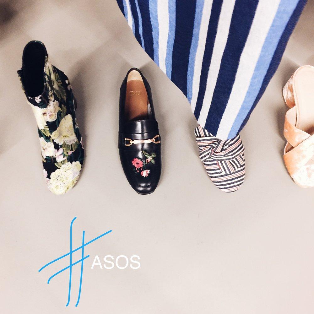 Im Showroom haut mich die ASOS Auswahl immer absolut um, im Shop finde ich diese Modelle oft gar nicht. Ich bin gespannt und habe mir gerade für die Schuhe die Liefertermine ganz genau geben lassen.