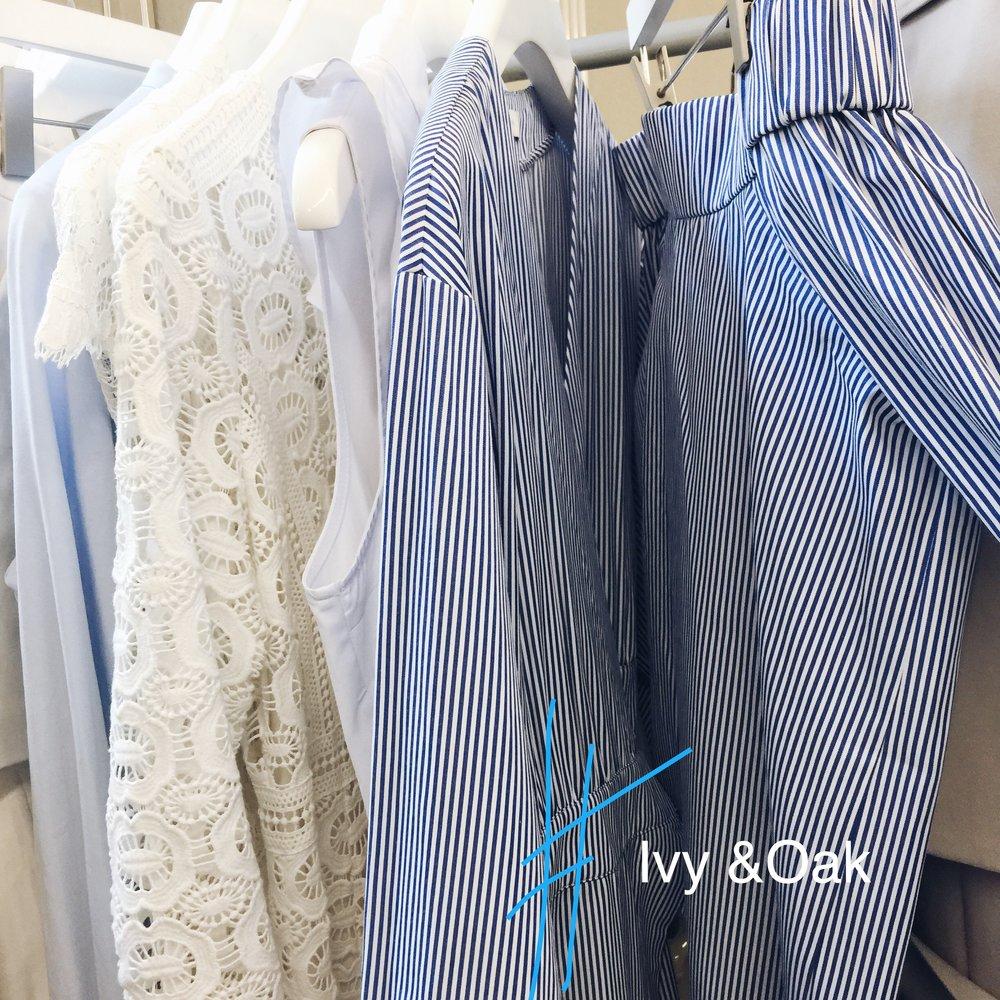 Die Allrounder: Ivy & Oak aus Berlin setzen auf Streifen und Spitze im nächsten Frühjahr.