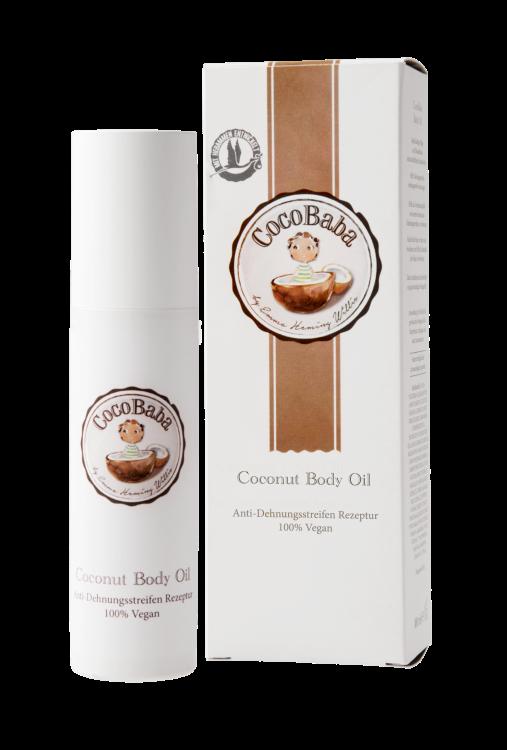 CocoBaba Body Oil - - reichhaltige Pflege- beugt Dehnungstreifen vor- Schutz vor dem Austrocknen-    angenehmer Duft