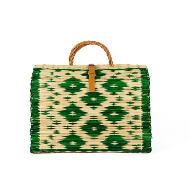 Raffia Tasche als Business Bag