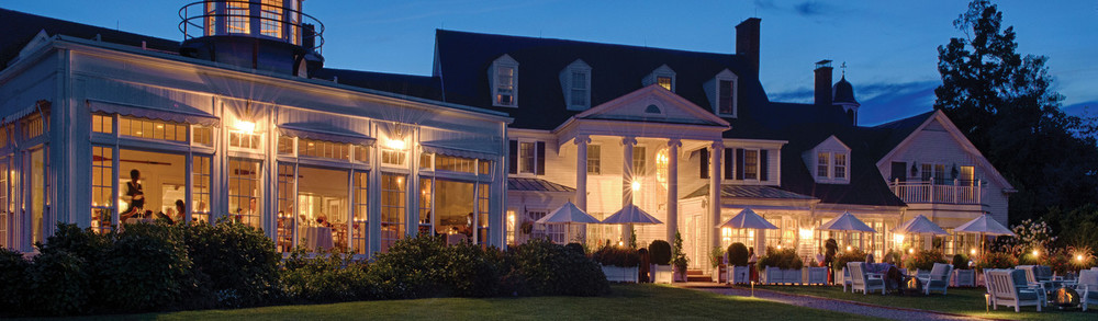 Nightfall at the Inn. Elegant. Leave your overalls at home.